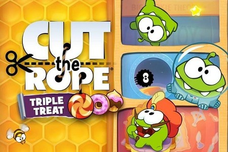 Triple diversión en Cut the Rope: Triple Treat para el Nintendo 3DS