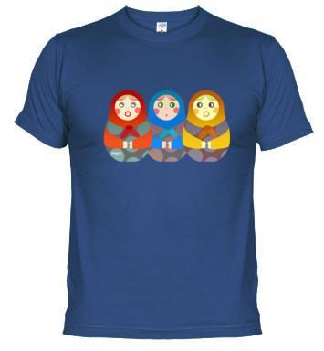 Pon un toque ruso en tu día a día: camiseta con matrioskas