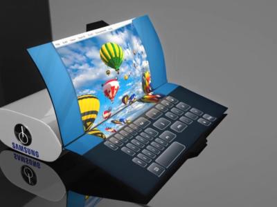 Los móviles flexibles son sólo el principio: Samsung patenta un portátil que se puede enrollar