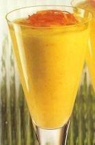 Mousse de mango con yogur