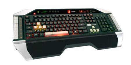 Saitek Cyborg Keyboard, teclado iluminable