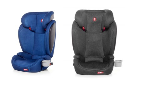 En azul o gris tenemos la la silla de coche Piku Kliku Fix de grupo 2/3 por 70 euros en Amazon