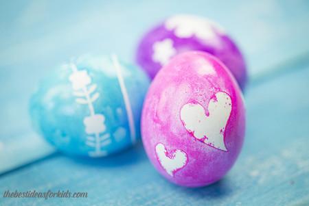 Manualidades Pascua Decorar Huevos Pegatinas