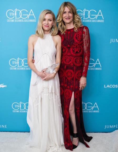 Naomi Watts Laura Dern Costume Designers Guild Awards 2015