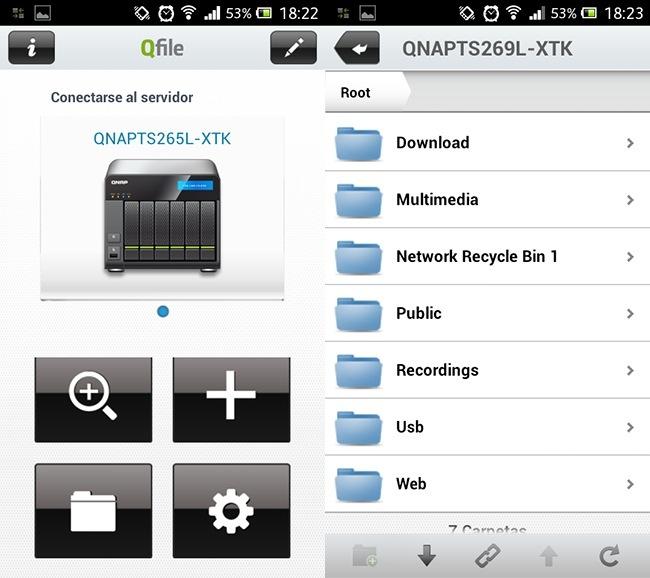 QNAP Android app
