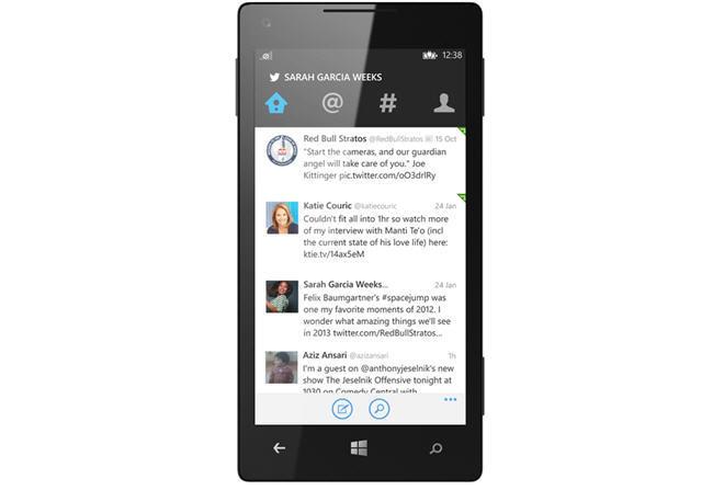 Nueva versión de Twitter para Windows Phone