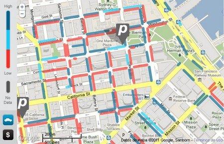 SFpark, encontrar un sitio para aparcar por internet