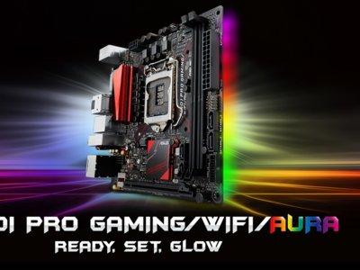 ASUS B150I y B150M Pro Gaming Series, motherboards Aura RGB para sistemas compactos