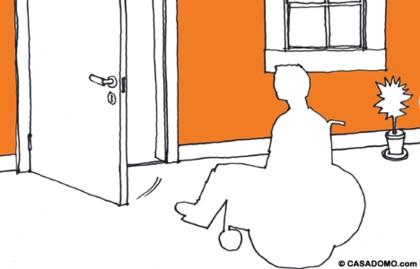 Casas adaptadas para personas con discapacidad - Puerta para discapacitados medidas ...