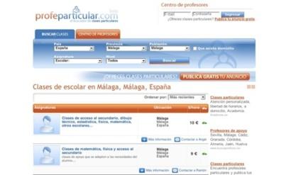 Profeparticular.com, directorio de profesores para clases particulares