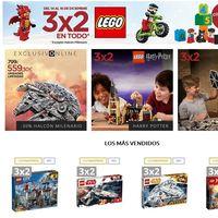 3x2 en El Corte Inglés en sets de Lego