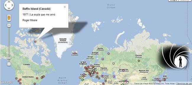 mapa james bond