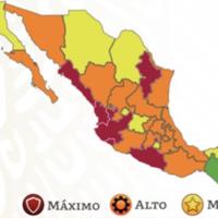 CDMX vuelve a semáforo rojo por COVID y todo México ahora tiene siete estados en máximo nivel de alerta y 15 en naranja