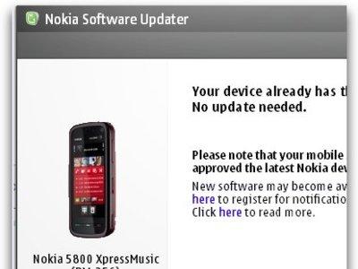 Nokia 5800 XpressMusic recibe actualización de firmware (50.0.005)