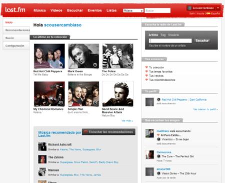 Last.fm renueva su diseño e incluye nuevas funciones