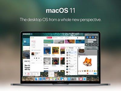 Este concepto de macOS 11 reimagina una futura gran versión del sistema operativo para Mac