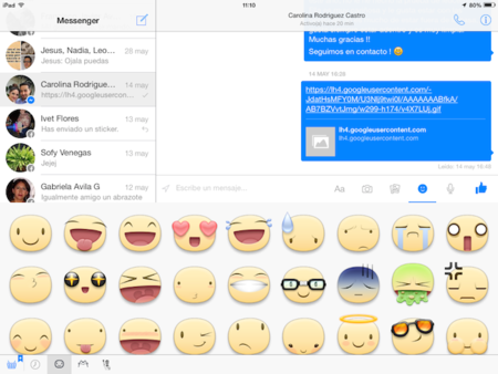 Facebook Messenger ahora es compatible con iPad