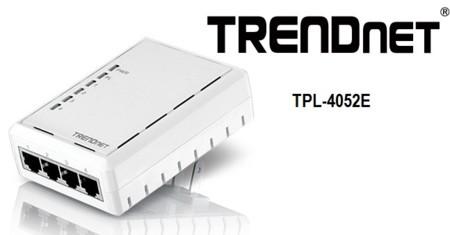 TRENDnet TPL-4052E, adaptador PLC de 500 Mbps y 4 puertos Ethernet