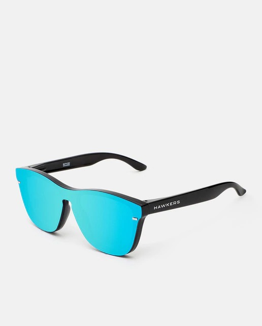 Gafas de sol unisex Hawkers de lente única espejada en tono azul