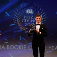 Max Verstappen cierra como el mejor novato del año y se lleva otros 2 premios en la gala FIA