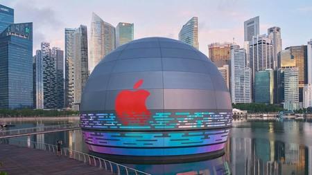 """La primera Apple Store """"flotante"""" del mundo abrirá sus puertas pronto en la ciudad de Singapur"""