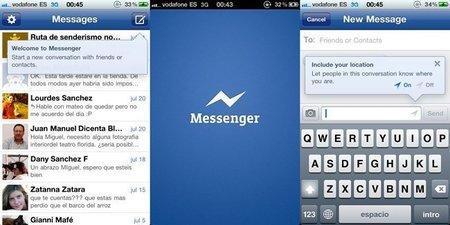 Facebook Messenger quiere hacer la competencia a otros servicios de mensajerías para móviles