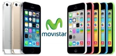 Movistar anuncia los precios del iPhone 5s y iPhone 5c