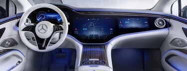 El Mercedes-Benz EQS revela su espectacular interior: así luce la megapantalla de 141 cm que ocupa todo el salpicadero