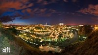 Inusual panorámica nocturna de Toledo
