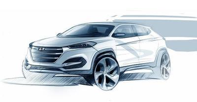 Hyundai ix35, primer boceto de su nueva generación