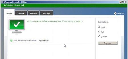 Windows Defender Offline Tool Beta. A fondo (parte 1)