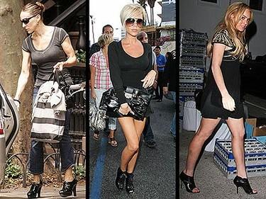 El nuevo must have de las celebrities: botines peep-toe, ¡qué horror!