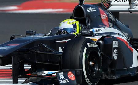 Kimiya Sato Sauber Test Silverstone 2014