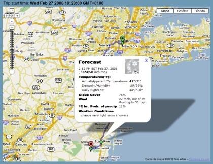 TripWX: información meteorológica sobre rutas