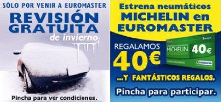 Euromaster nos regala hasta 40 euros por montar neumáticos Michelín en nuestro vehículo