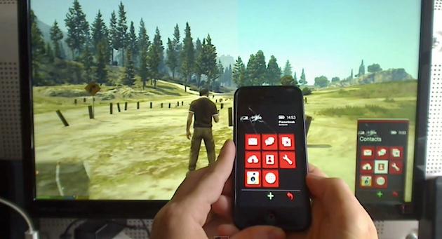 Este alucinante mod para gta v permite usar el iphone como for Fuera de serie telefono