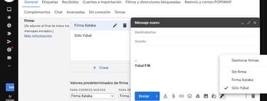 Cómo añadir varias firmas a Gmail y decidir cuándo utilizar cada una