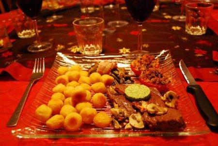 Las calorías que podemos ingerir en una cena de Navidad