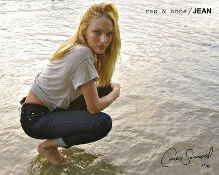 Candice Swanepoel nos seduce en Bora Bora en el catálogo de Rag & Bone Jean