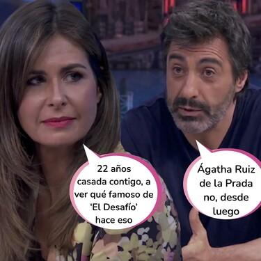 Juan del Val y Nuria Roca recuerdan el día de su boda en 'El Hormiguero': desvelan las fotos que nunca se vieron y el truco para que sus invitados acabaran con la corbata en la cabeza