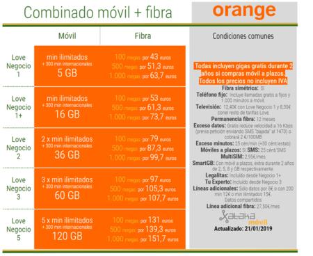 Nuevas Tarifas Love Negocio De Orange