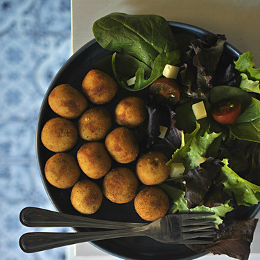 Croquetas de queso y mostaza de Dijon. Receta vegetariana