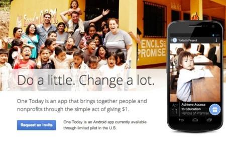 Google lanza One Today, una aplicación móvil de microdonaciones