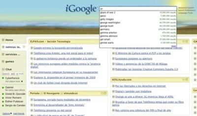 Google chat en la barra de navegación del nuevo iGoogle