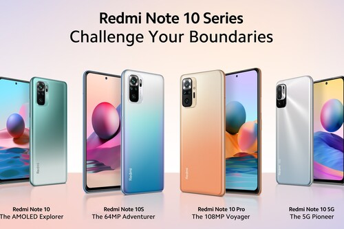 Redmi Note 10, Note 10S, Note 10 5G y Note 10 Pro: la gama media de Xiaomi recibe pantallas AMOLED hasta 120 Hz, 5G y 108 megapixeles