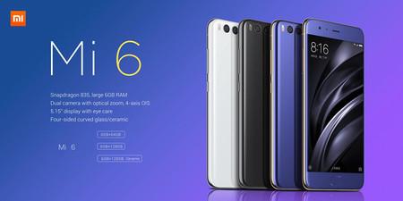 El nuevo Xiaomi Mi6, con 6GB de RAM y resistencia al agua, por 354 euros con este cupón