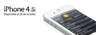 iPhone 4S con Vodafone para el 28 de octubre
