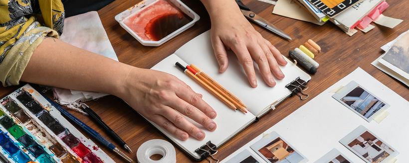 Cuaderno artístico para viajes imaginarios. Un curso de Koi Samsa, Diseñadora y artista plástica