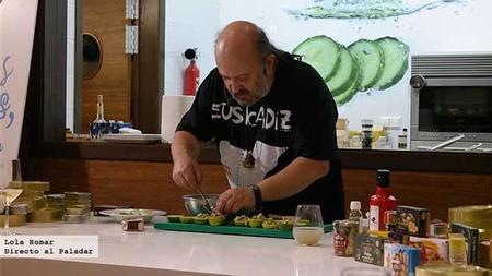 Showcooking de Sacha Hormaechea. Las conservas en la cocina.