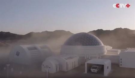 La primera simulación de base en Marte realizada por China y está construida en el desierto